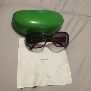 Kate Spade sunglasses with case and cloth